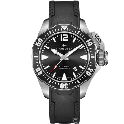Hamilton卡其海軍系列蛙人機械錶(H77605335)42mm