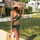 Biki比基尼妮泳衣,綠網美變化二件式泳衣泳裝比基尼(M-2XL) product thumbnail 1