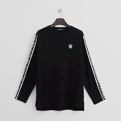 Hang Ten - 男裝 - 個性標語T恤-黑色