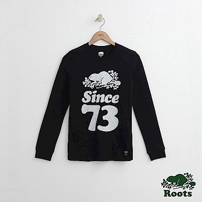 Roots -女裝- 周年系列長袖上衣 - 黑