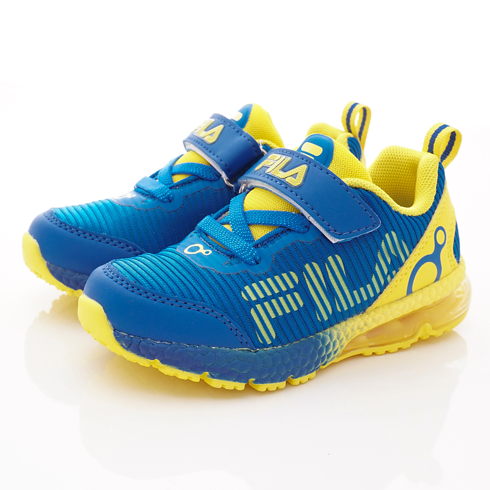 FILA頂級童鞋 氣墊運動鞋款 EI29S-399藍黃(中小童段)0