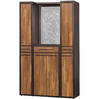 文創集 杜奧爾時尚4尺六門屏風雙面隔間櫃/鞋櫃組合-120x38x195cm免組