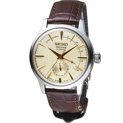 SEIKO Presage 調酒師動力儲存顯示機械腕錶(SSA387J1)