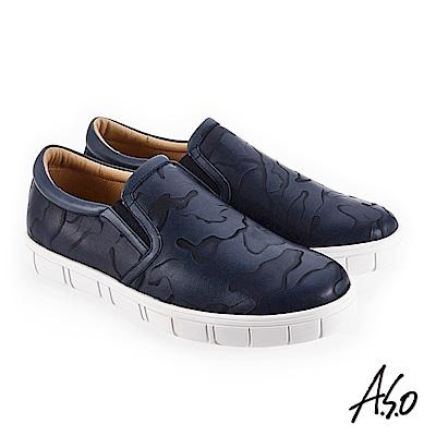 A.S.O 輕量抗震 個性百搭休閒鞋 深藍