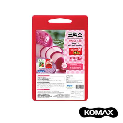 韓國KOMAX 抗菌銀離子紅白兩用砧板(中)