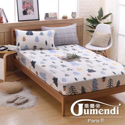 喬曼帝Jumendi 台灣製活性柔絲絨加大三件式床包組-漫遊北歐