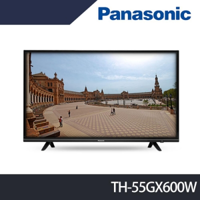 Panasonic國際牌 55吋 4K HDR 液晶顯示器+視訊盒 TH-55GX600W