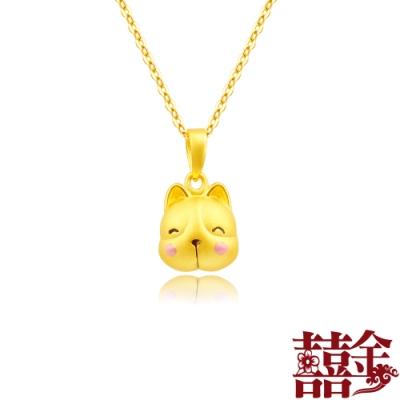 囍金 超萌小法鬥鈴鐺(會響) 999千足黃金項鍊