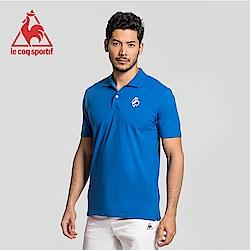 le coq sportif 法國公雞牌經典多色復古短袖POLO衫 男-中藍