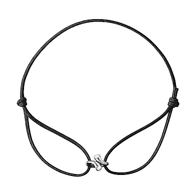 Georg Jensen 喬治傑生 - MAGIC 18K白金鑽石皮繩項鍊
