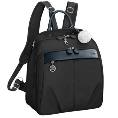 Kanana卡娜娜 多功能尼龍大型手提後背兩用包-黑色