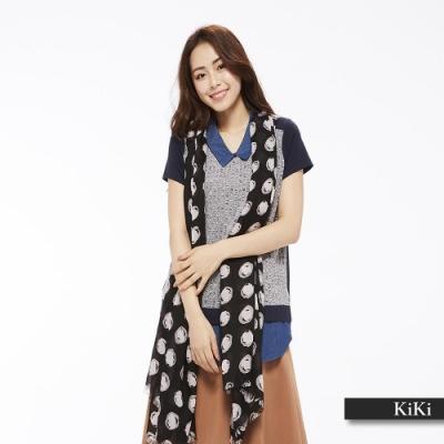 【KiKi】假兩件式設計-襯衫(二色)
