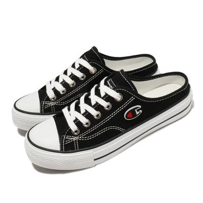 Champion 休閒鞋 Canvas Slip 拖鞋 女鞋 懶人鞋 外出 輕便 穿搭推薦 黑 白 WSLS101410