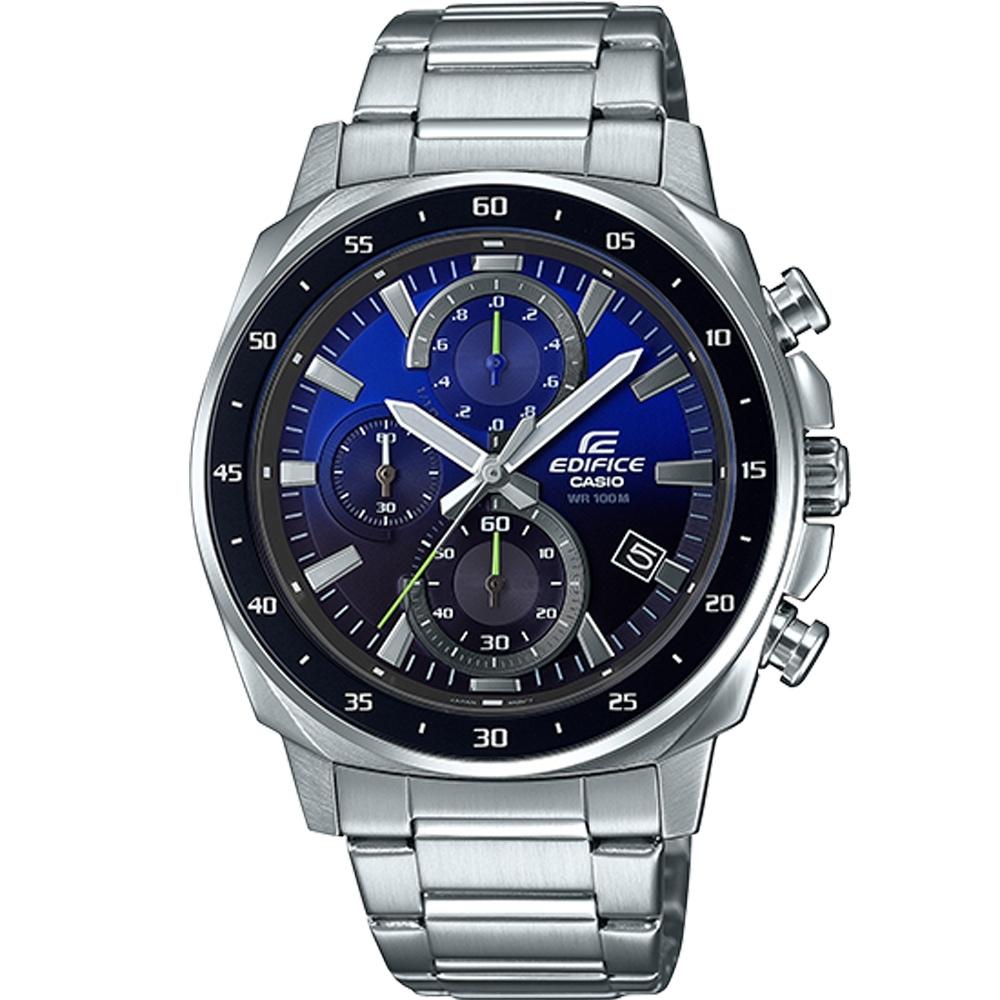 CASIO EDIFICE 三眼設計漸層混搭計時腕錶(EFV-600D-2A)