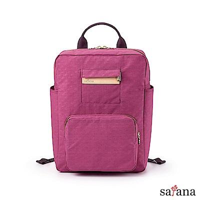 satana - Soldier 上課趣後背包 - 霧紫紅
