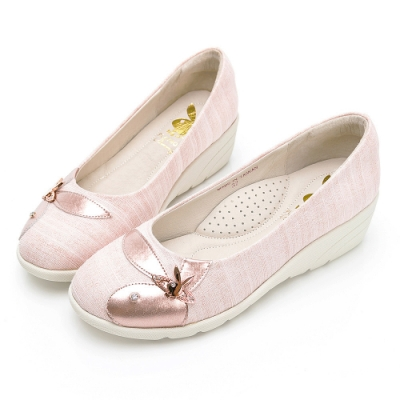 PLAYBOY GOPLAY 走不累Fancy增高娃娃鞋 -粉-Y729399