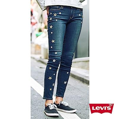 Levis 711 中腰緊身窄管牛仔長褲 亞洲版型 金銀繡線