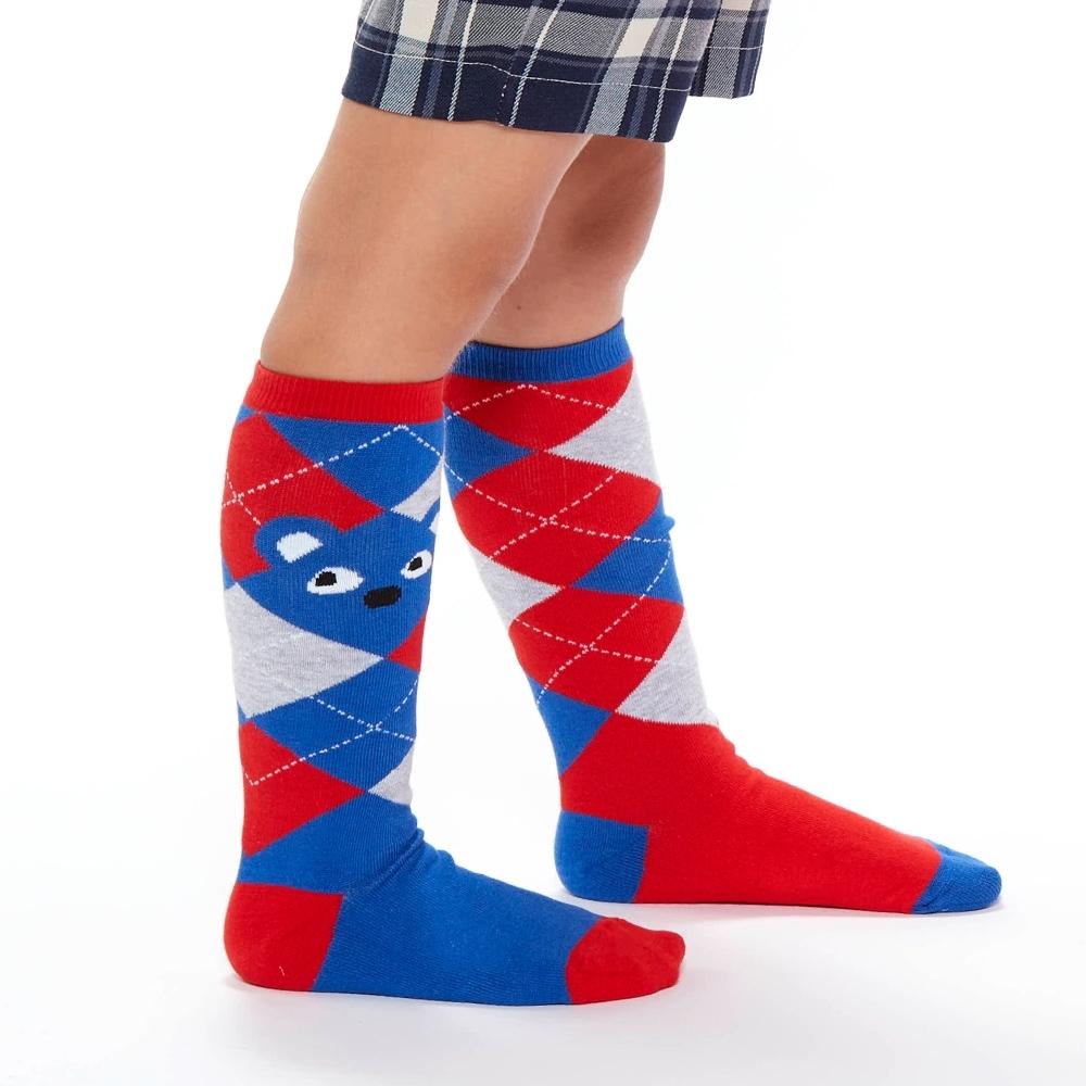 WHY AND 1/2 菱格紋長筒襪