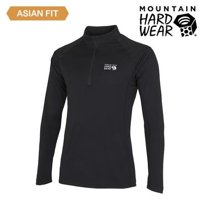 【美國 Mountain Hardwear】Estero Long Sleeve Zip T 彈性快乾長袖拉鍊排汗衣 男款 黑色 #OE1244