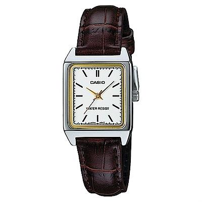 CASIO 復古方形造型經典指針錶(LTP-V007L-7E2)/18mm