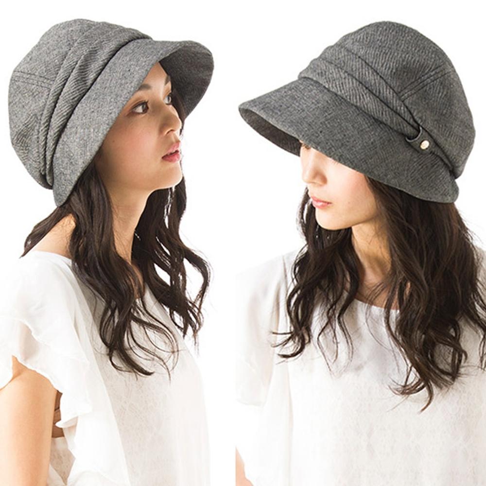 QUEENHEAD日系抗UV可折疊時尚小顏防曬帽(灰色)