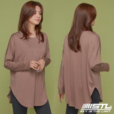 STL yoga LYNING LS 韓國瑜珈 運動機能 落肩加寬長版蓋臀長袖上衣 乾燥玫瑰