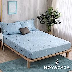 HOYACASA綻放時光 雙人親膚極潤天絲床包枕套三件組