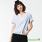 bossini女裝-短袖造型罩衫03藍