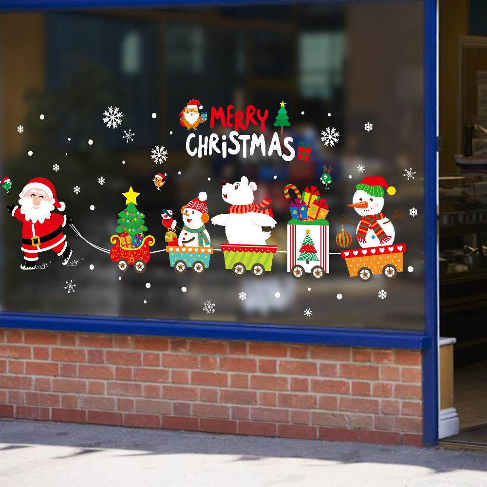 半島良品 聖誕壁貼-聖誕老人火車 XH6252 45x60cm
