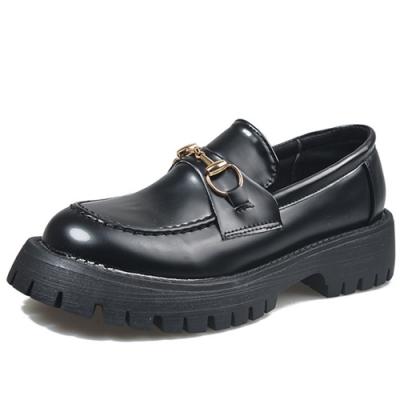 KEITH-WILL時尚鞋館 韓式名媛優雅復古英倫樂福鞋-黑