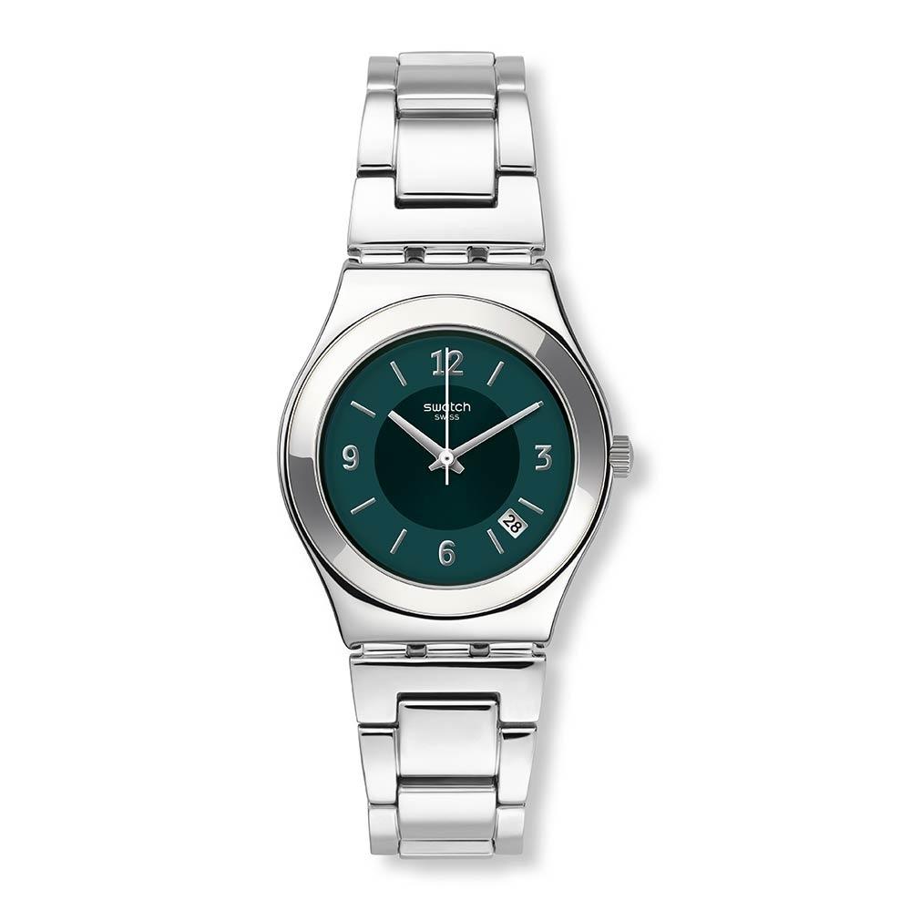 Swatch 金屬系列 MIDDLESTEEL 金屬-綠面 -33mm