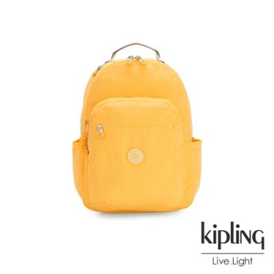 Kipling 冒險活力黃機能手提後背包-SEOUL