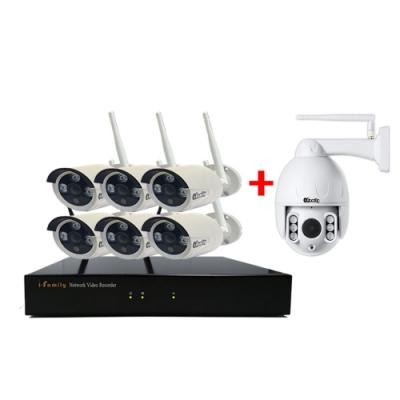 免施工/免設定1080P八路式6加1鏡頭無線監視錄影套裝組