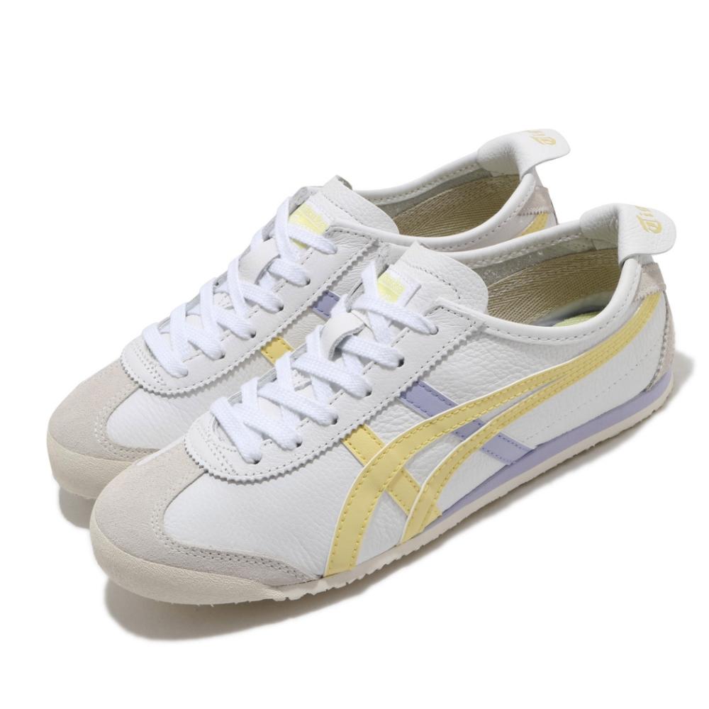 Onitsuka Tiger 休閒鞋 Mexico 66 復古 低筒 女鞋 OT 鬼塚虎 皮革鞋面 穿搭 白 黃 紫 1182A078106