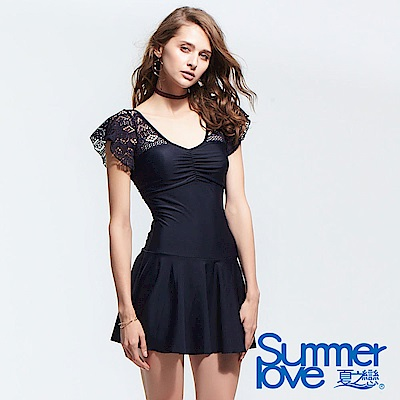 夏之戀SUMMERLOVE  大女顯瘦款連身帶裙泳衣