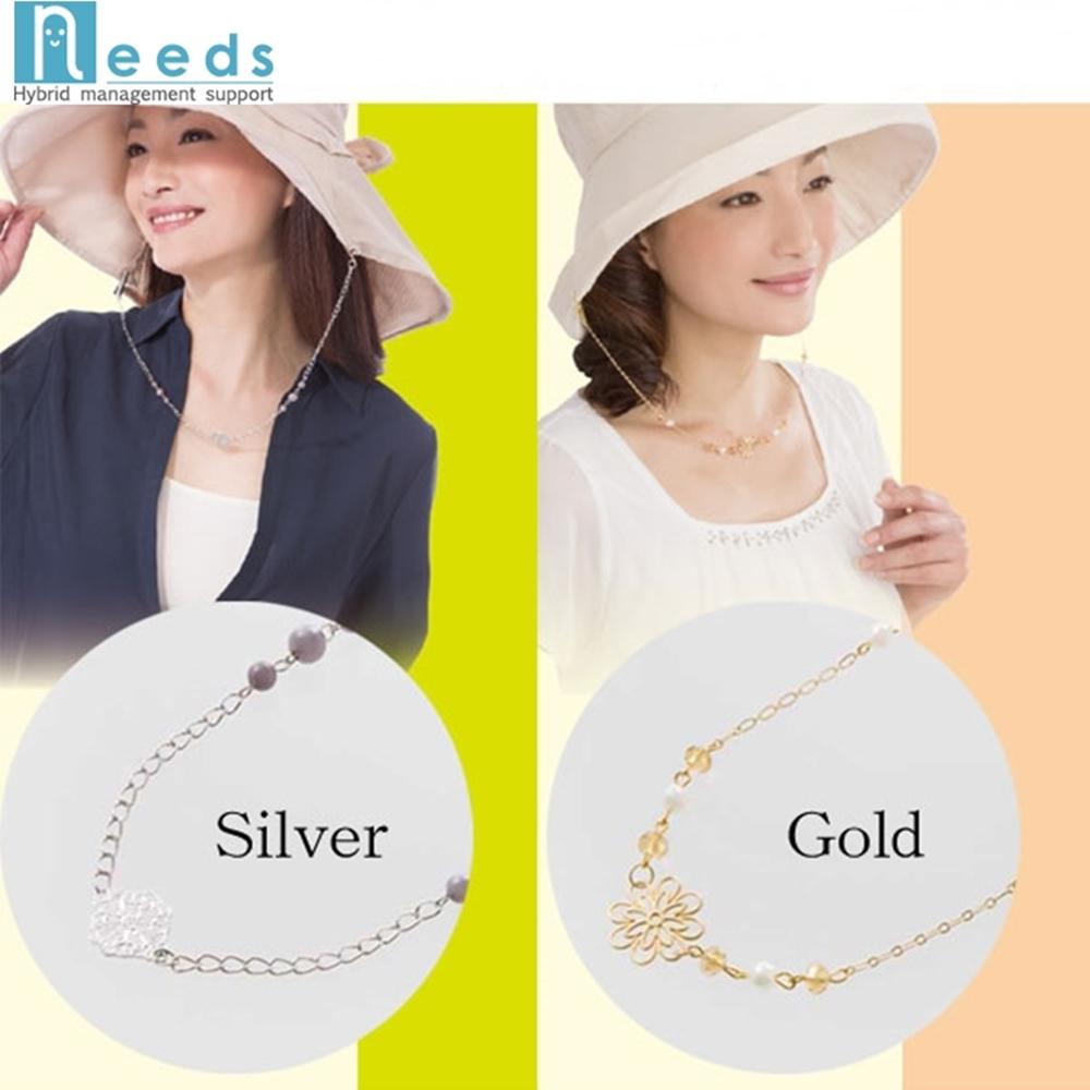 日本NEEDS帽子防掉鏈附帶小飾物(金色#672733/銀色#672740)