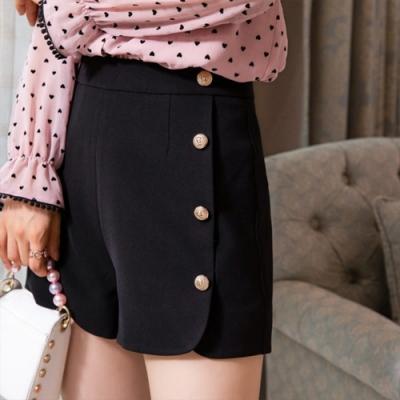 設計所在Lady-港味短褲時尚高腰寬管熱褲(二色M-2XL可選)