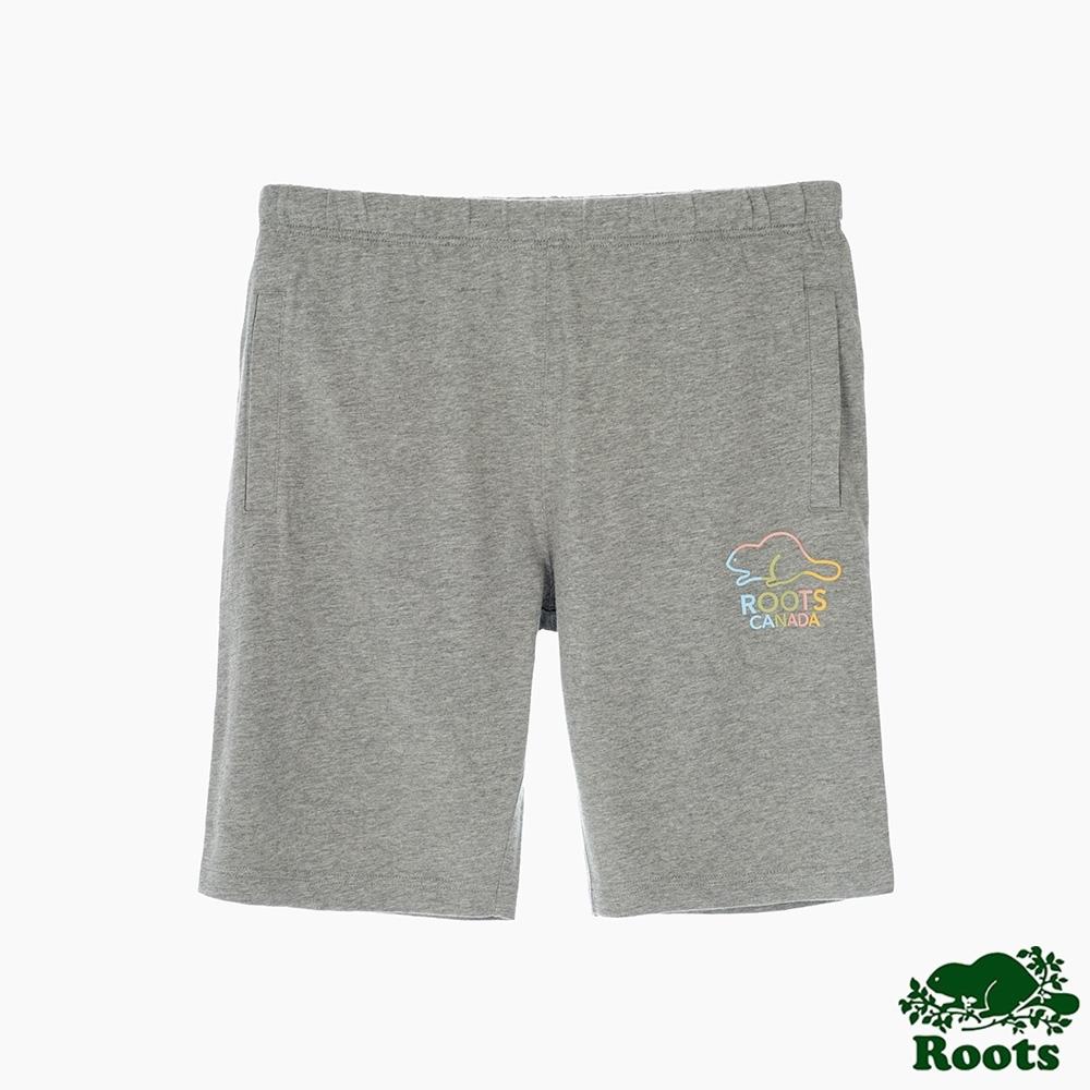 Roots男裝-彩色海狸系列 棉質短褲-灰色