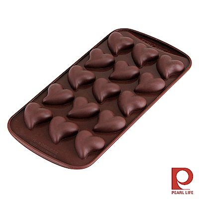 日本Pearl Life Loving15連愛心巧克力模/冰模-咖啡色