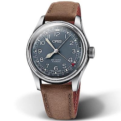 ORIS 豪利時 Big Crown大表冠日期腕錶-藍40mm