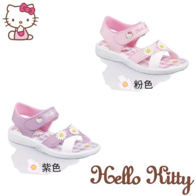 (雙11)Hello Kitty童鞋 交叉帶輕量減壓涼鞋-紫.粉