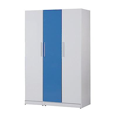 文創集 戴倫環保4.1尺塑鋼三門衣櫃(三色)-122x52.5x192cm-免組