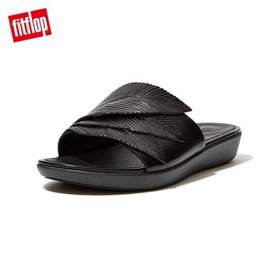 FitFlop SOLA FEATHER SLIDES 一片式簡約涼鞋-女(靓黑色)