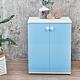 Birdie南亞塑鋼-防水2.1尺二門塑鋼收納櫃/窗邊置物櫃/組合櫃(白色+粉藍色)-63x36.5x84 product thumbnail 1