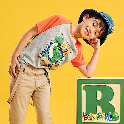 bossini男童-玩具總動員印花T恤-抱抱龍淺灰