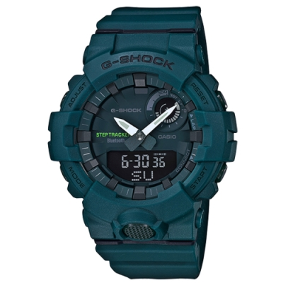 CASIO卡西歐G-SHOCK 藍芽LED背光運動手錶-墨藍(GBA-800-3A)