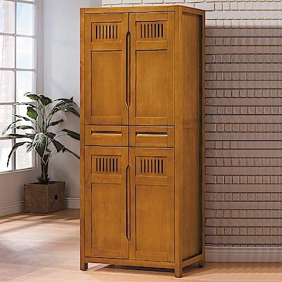 AS-羅恩全實木3x6尺高鞋櫃-90x38x193cm