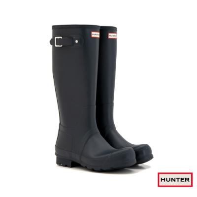 HUNTER - 男鞋 - Original霧面長靴 - 藍