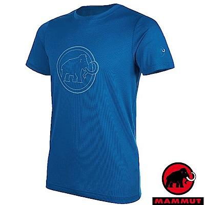 長毛象 QD AEGILITY 男新款 彈性透氣短袖圓領T恤_海浪藍
