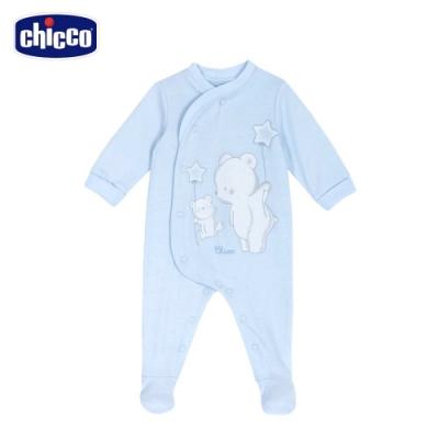 chicco-粉彩-星星小熊前側開兔裝